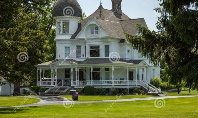 Classic White Victorian Home