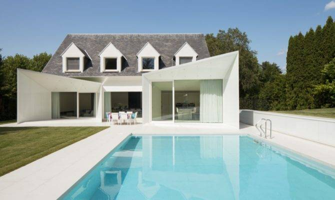 Clean Lined Residence Swimming Pool Wemmel