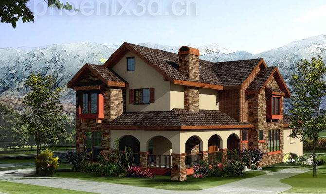 Close Renderings Different Types Houses Building Plans
