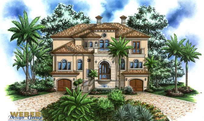 Coastal Home Plan Casa Bella House Weber Design Group