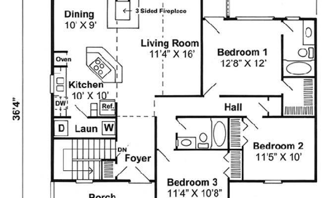 Coastal House Plan Bedrooms Bath