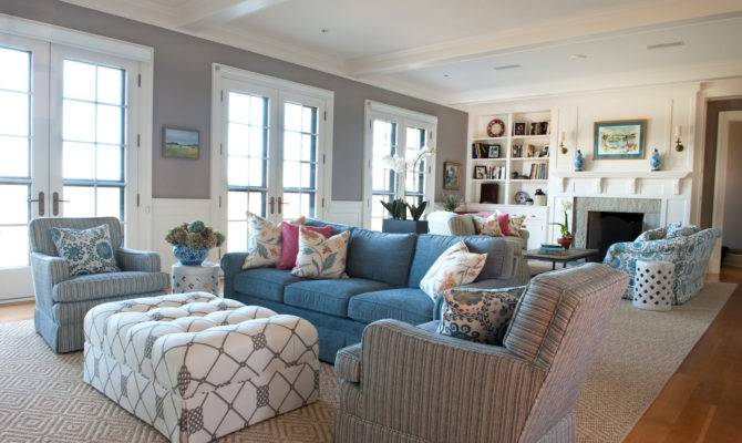 Coastal New England Living Room