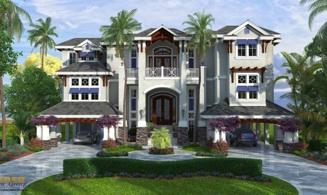 Coastal Style House Plan Story Floor Outdoor