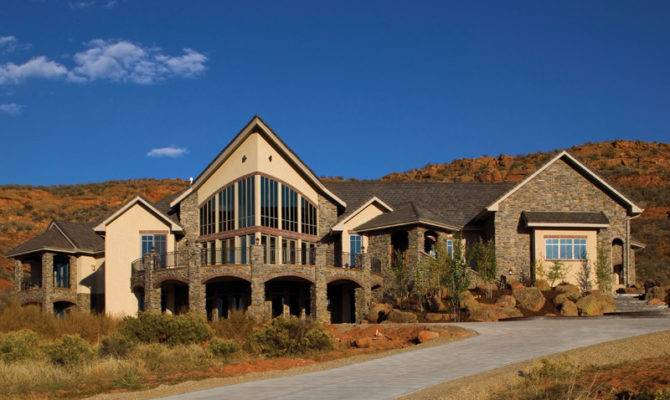 Colima Manor Mountain Home Plan House Plans
