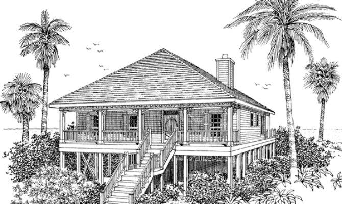 Collier Cove Beach Cottage Home Plan House