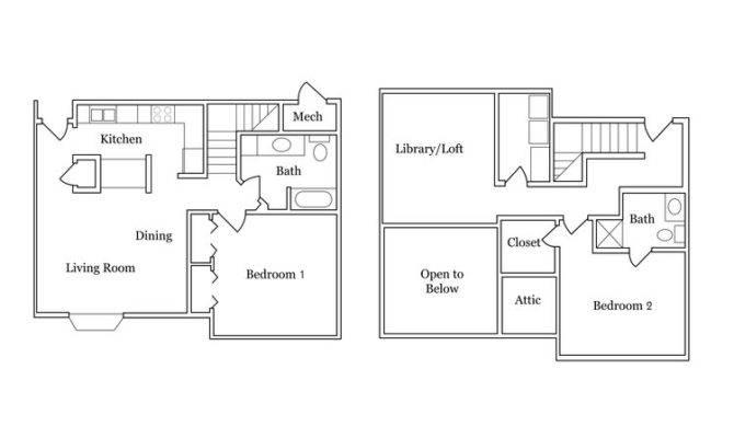 15 2 Bedroom 2 Bath With Loft House Plans Is Mix Of Brilliant Creativity House Plans