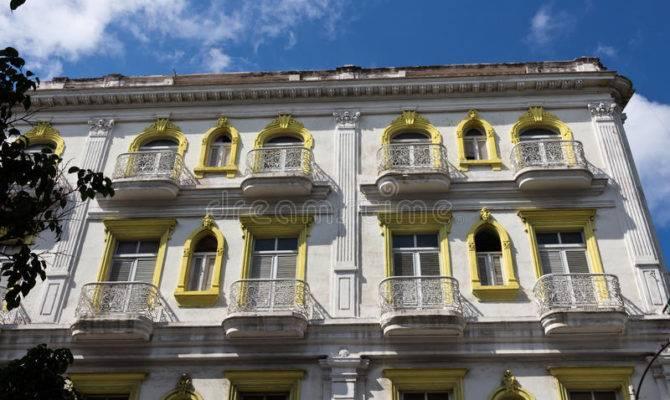 Colonial Facade Old Havana Cuba
