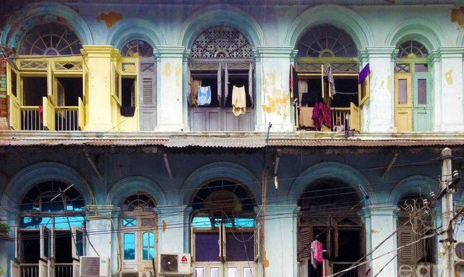 Colonial Facade Soon Pat Street Ward Central Yangon