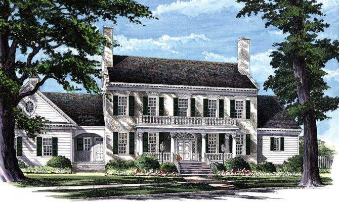 Colonial Home Plan Master Suites