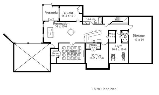 Colonial House Plan Bedrooms Baths