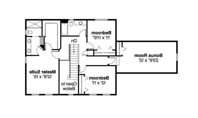 Colonial House Plan Ellsworth Floor
