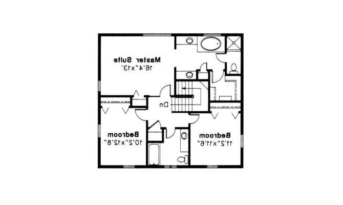 Colonial House Plan Maumee Floor