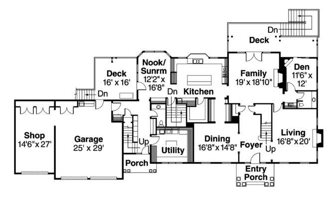 Colonial House Plan Princeton Floor