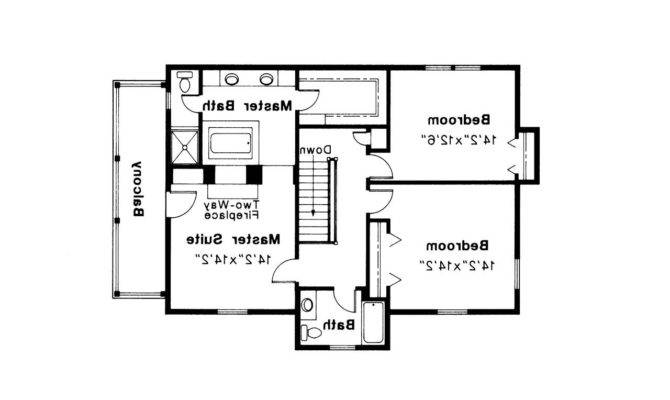 Colonial House Plan Rossford Floor