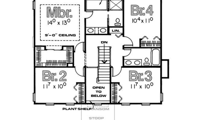 Colonial House Plan Second Floor Plans More