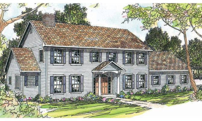Colonial House Plans Kearney Associated Designs
