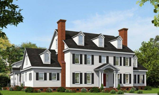 Colonial House Plans Premier Luxury Home Plan