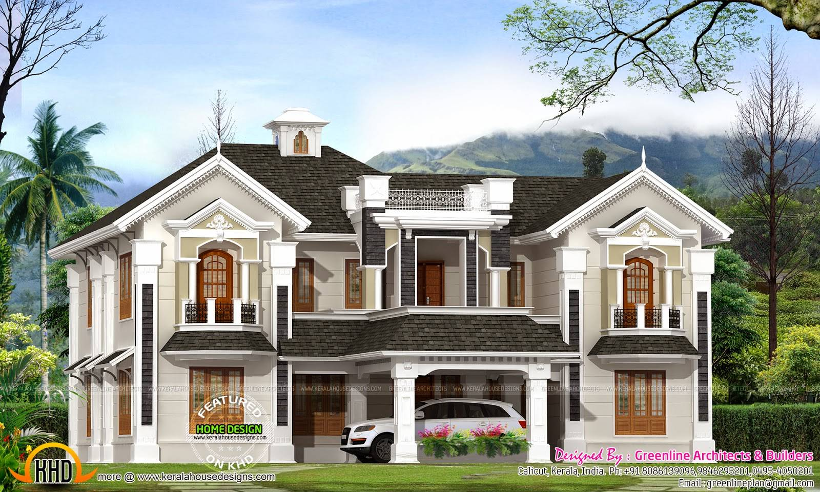 Colonial Style House Kerala Home Design Floor Plans House Plans 63429