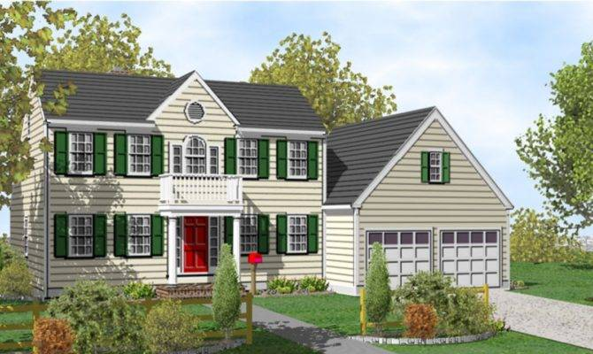 Colonial Two Story House Plans