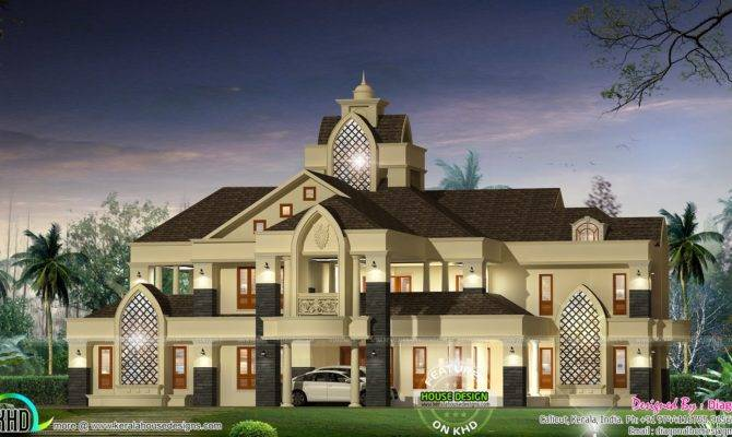 Colonial Type Modern Luxury Home Kerala Design