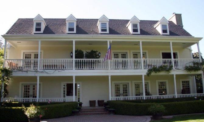Colonial Wraparound Porch Balcony Rend Hgtvcom Jpeg