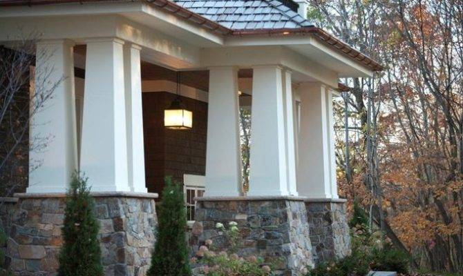 Columns Add Craftsman Style Beauty Porches Porticoes Interiors