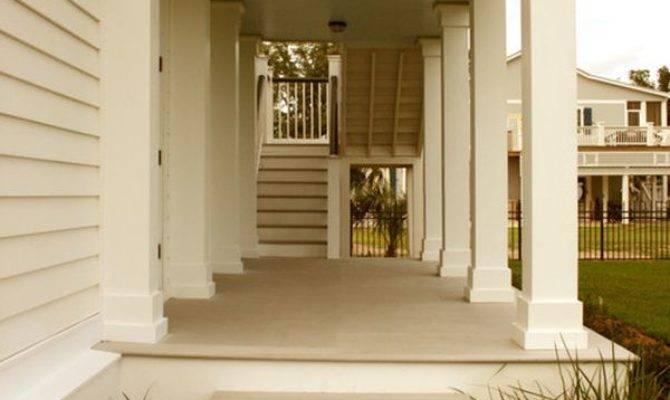 Columns Inside Outside House