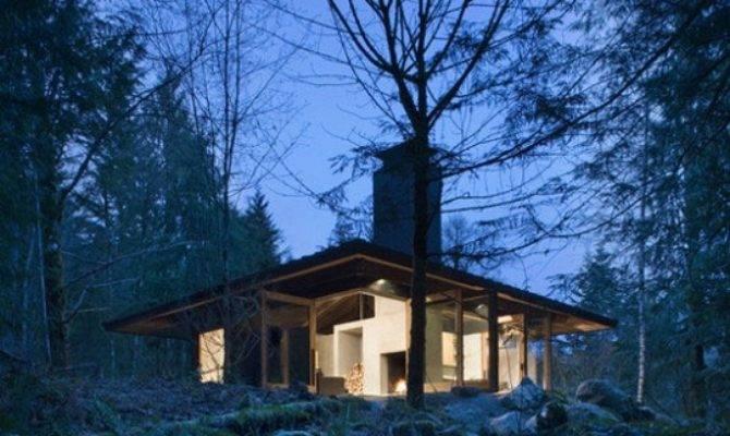 Compact River Cabin Washington Olson Kundig Architects