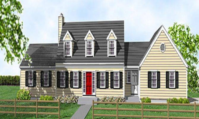 Compact Staircase Cape Cod Cottage House Plans