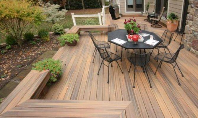 Composite Deck Bench Home Design Ideas Remodel