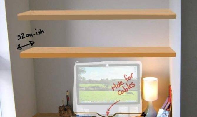 Computer Nook Alcove Shelves Shelf
