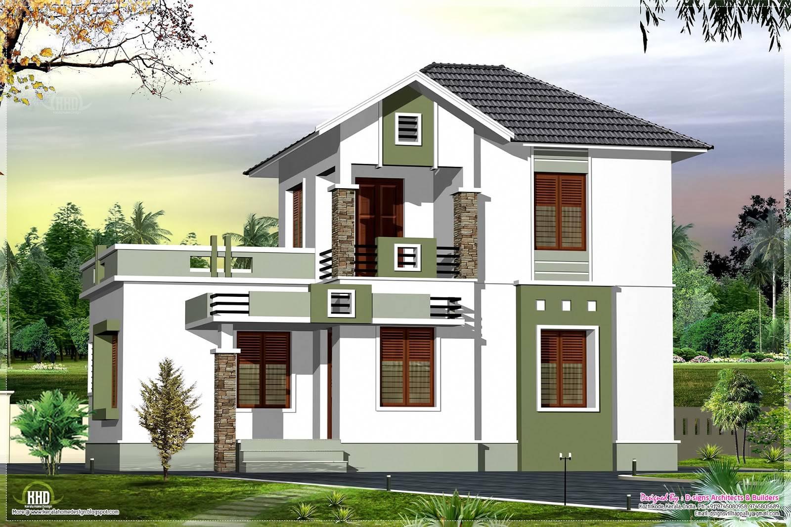 Comsmall Double Floor Home Design Feet Kerala House Plans 43398