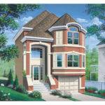 Comstock Narrow Lot Townhouse Plan House Plans