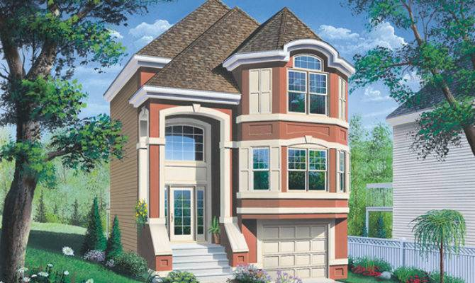 Comstock Narrow Lot Townhouse Plan House Plans