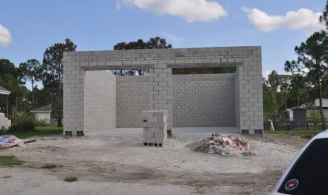 Concrete Block Garage Plan House Plans 61046
