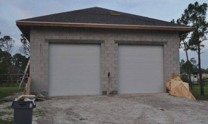 Concrete Block Garage