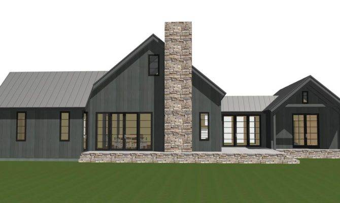 Contemporary Barn Home Plan Lexington