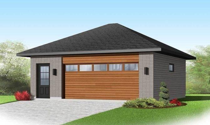 Contemporary Car Detached Garage Plan