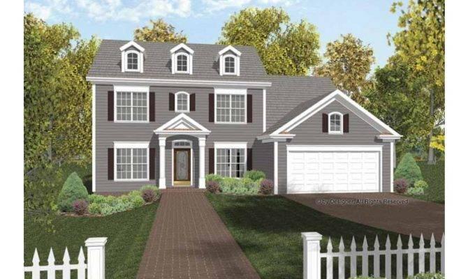 Contemporary Colonial Hwbdo Builderhouseplans