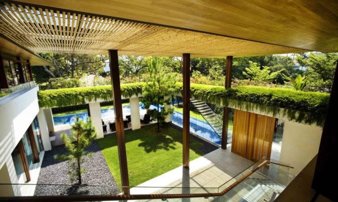 Contemporary Courtyard House Singapore Idesignarch