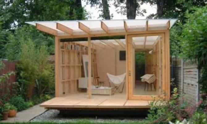 Contemporary Garden Shed Plan Interior Design