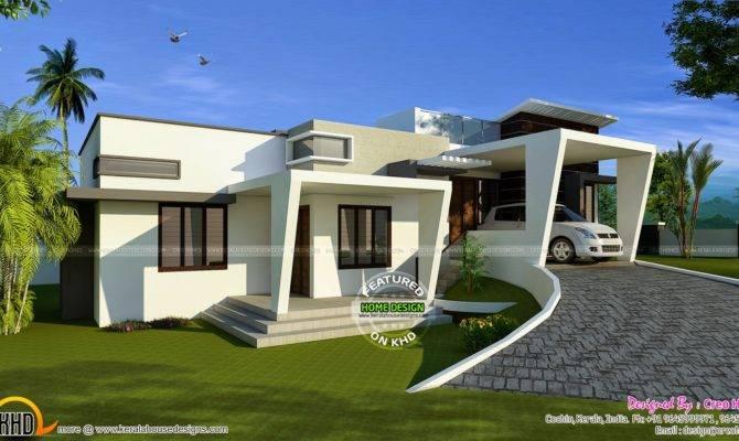 Contemporary Hillside Home Kerala Design Floor
