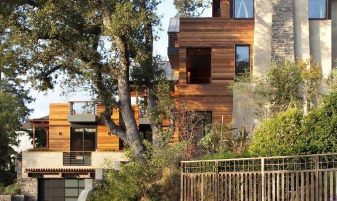 Contemporary Hillside House Architects Adelto