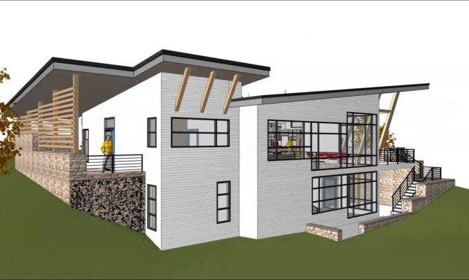 Contemporary Hillside House Design Video Youtube