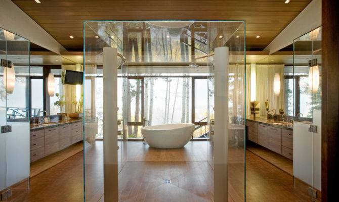 Contemporary His Hers Bathroom Decoist