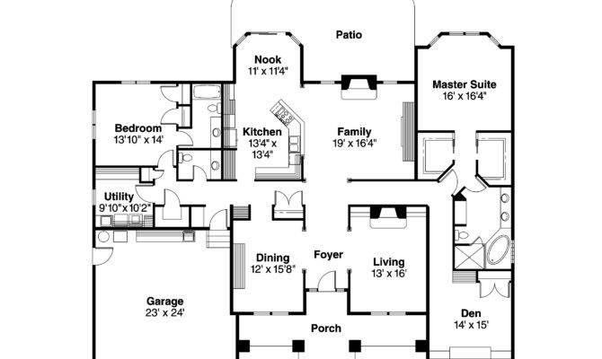 Contemporary House Floor Plan Homes Plans