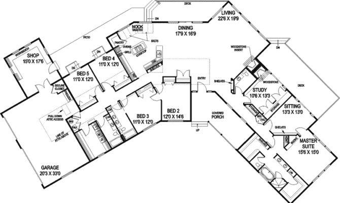 Contemporary House Plan First Floor Plans More