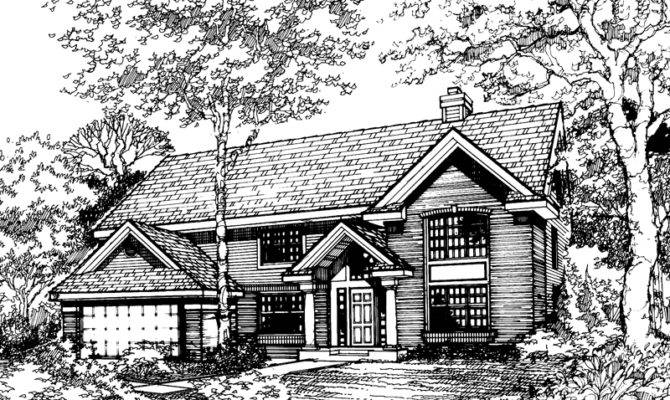 Contemporary House Plan Front Home Plans