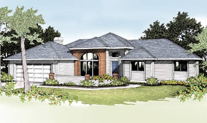 Contemporary House Plans Modern Ranch