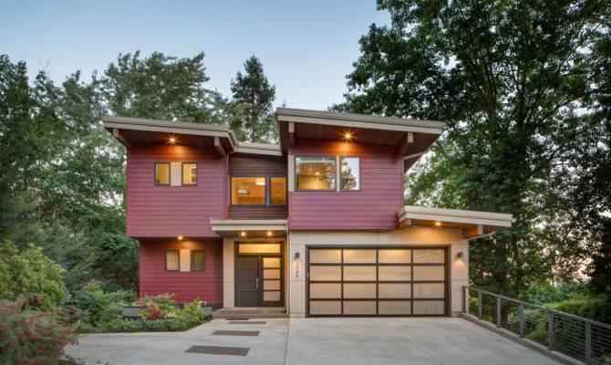 Contemporary House Plans Story Narrow Lot